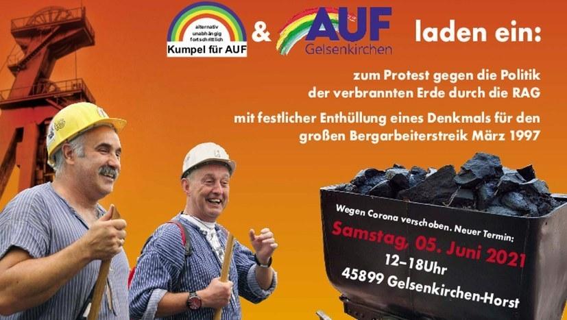 Heute Livestream zur Bergarbeiter-Veranstaltung