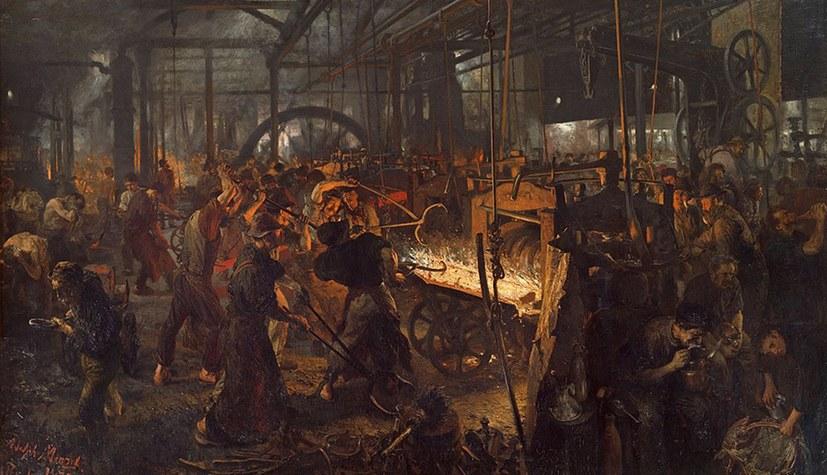Menzel malt das Eisenwalzwerk - aktualisiert