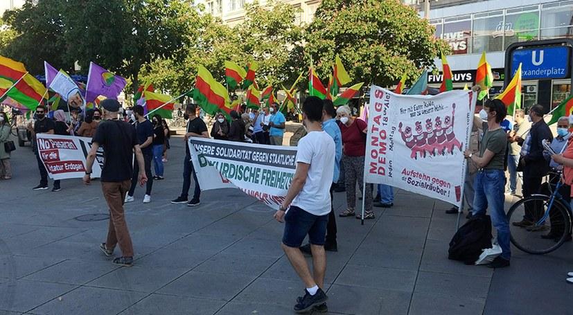 Montagsdemo und Demonstration für kurdischen Freiheitskampf gemeinsam
