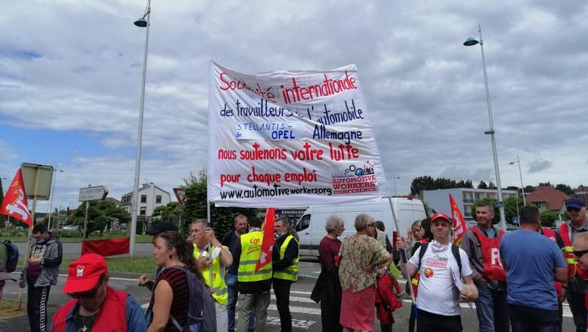 Erfolgreicher Streiktag der CGT in Sochaux