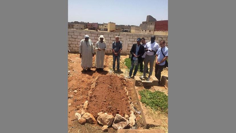 Begräbnis von Adil Belakhdim in Marokko