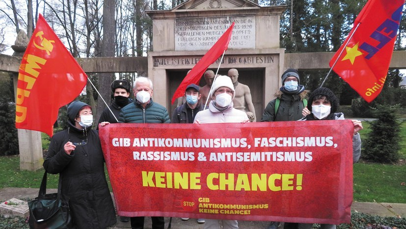 MLPD erkämpft Wahlzulassung - Protest gegen antikommunistischen Entzug der Parteienrechte der DKP