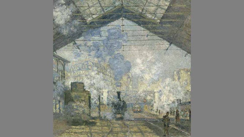 Monet und der Bahnhof Saint Lazare