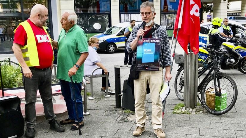 Protest gegen die Aberkennung der Parteieigenschaften der DKP
