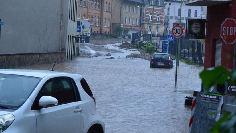"""Starkregen in Hohenlimburg  """"Die Vorboten der Klimakatastrophe sind angekommen!"""""""