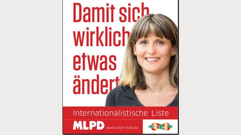 Spitzenkandidatin der Internationalistischen Liste / MLPD stellt sich vor