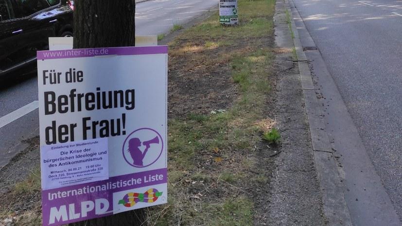 Veranstaltungsankündigung zur Bundestagswahl - kreativ