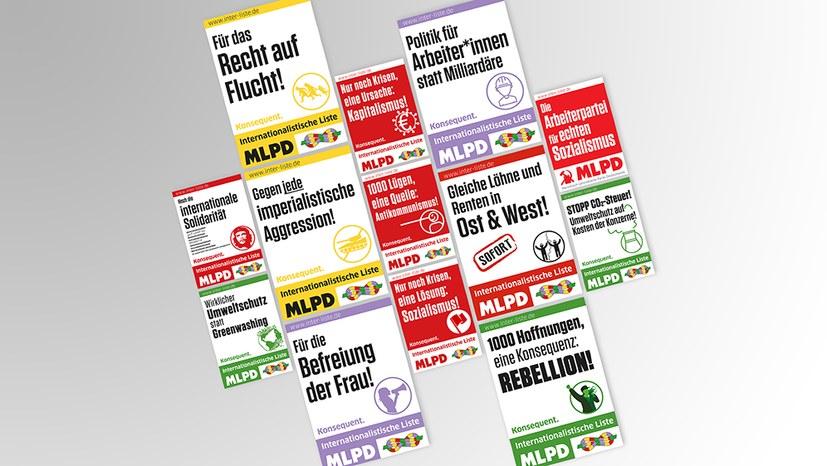 Wahlprogramm und Plakate sind da