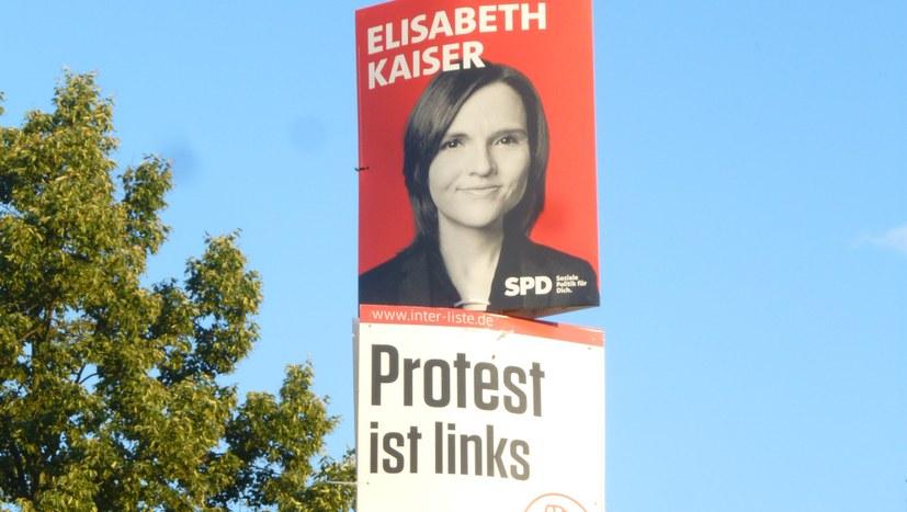 Splitter vom Plakatierungseinsatz in Ostthüringen