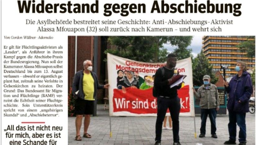 """""""WAZ"""" berichtet über Protest der Gelsenkirchener Montagsdemo"""