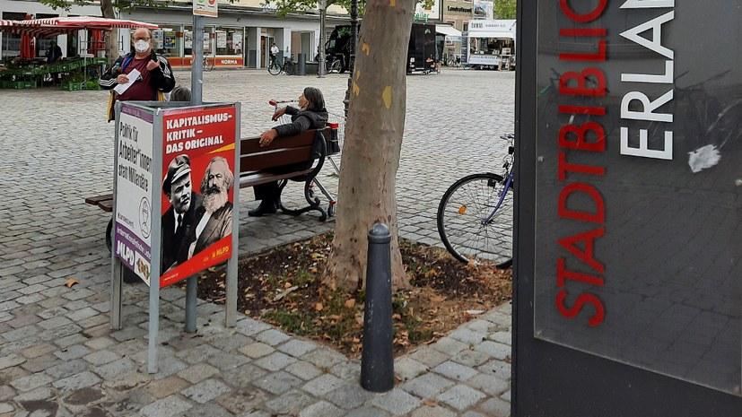 Plakatierung in Erlangen
