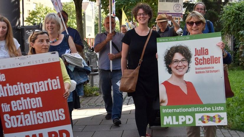 Ein Straßenumzug ganz im Sinne der Internationalistischen Liste / MLPD