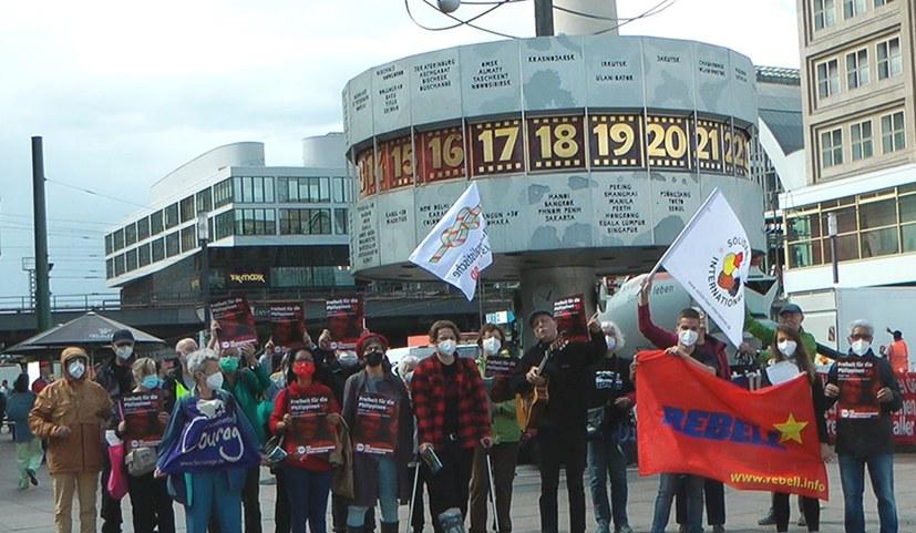 Protestkundgebung gegen den antikommunistischen Terror in den Philippinen