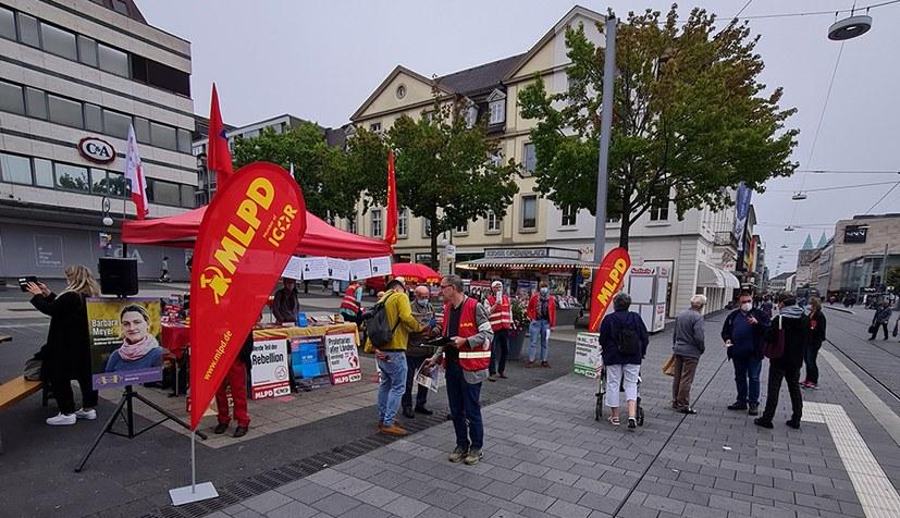 Kämpferischer Wahlkampfauftakt in Kassel