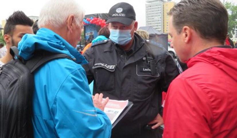 Linkspartei mit Polizei gegen Direktkandidaten der Internationalistischen Liste/MLPD