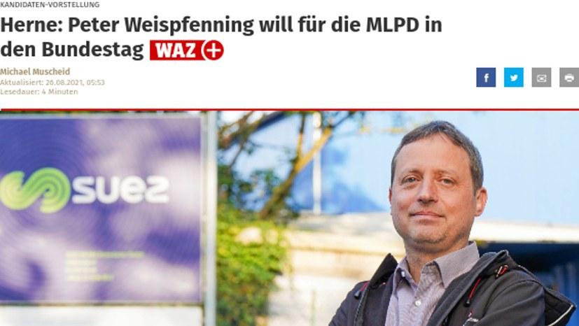 """Peter Weispfenning in der """"WAZ"""""""