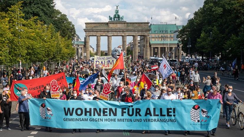 20.000 bei der Berliner Demonstration für bezahlbaren Wohnraum
