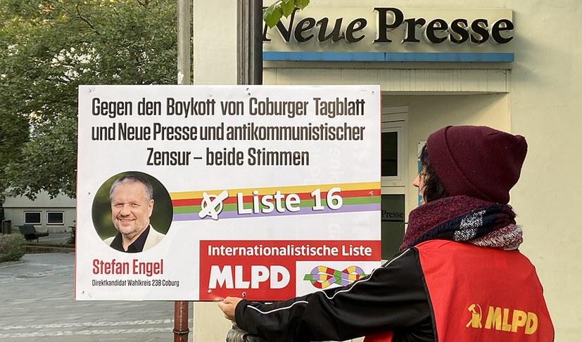"""""""Coburger Tagblatt"""" und """"Neue Presse"""" unterschlagen Stefan Engel"""