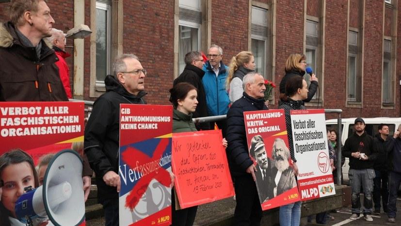 MLPD protestiert gegen faschistische Morddrohung