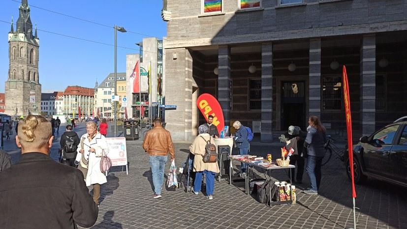 Internationalistische Liste / MLPD auf der Straße - anlässlich des antifaschistischen Gedenkens