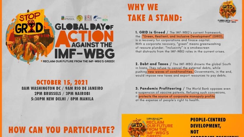 Aktionstag gegen IWF und Weltbank am 15. Okotber 2021