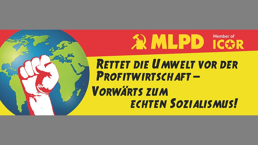 Neues Transparent zum internationalen Umweltkampftag