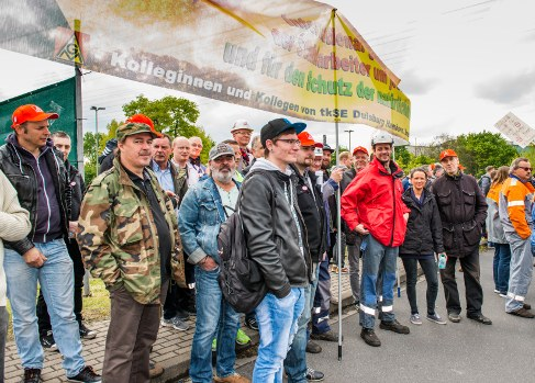 Streiks und Proteste in den Stahlbetrieben