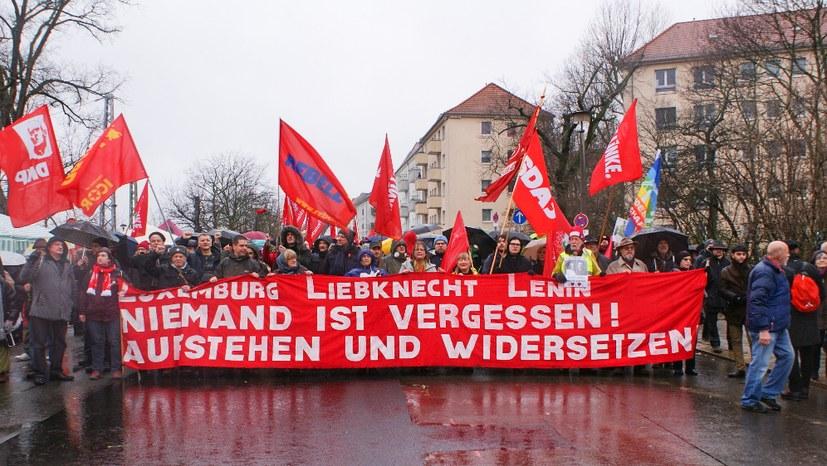 Fronttransparent der LLL-Demonstration 2019