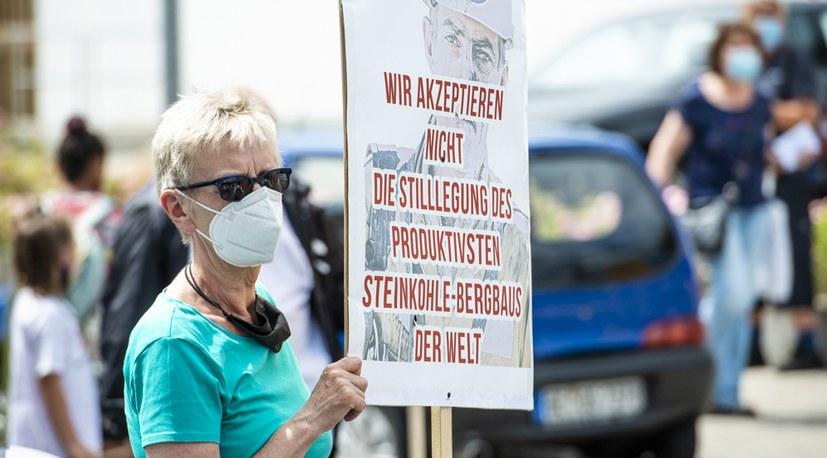 Demonstranten aus Neukirchen-Vluyn