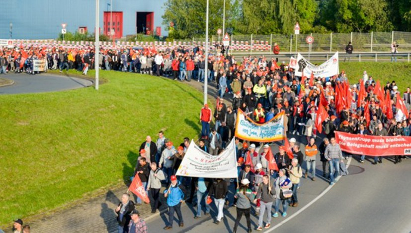 Der Demonstrationszug