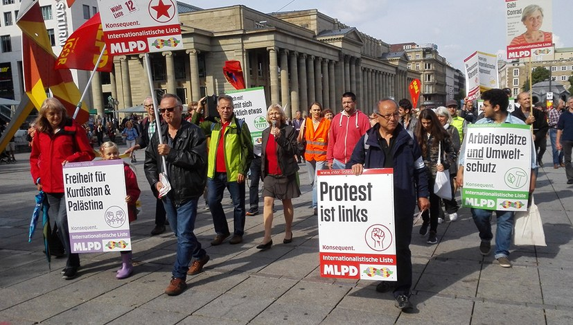 Bundestagswahlkampf 2017 der Internationalistischen Liste/MLPD