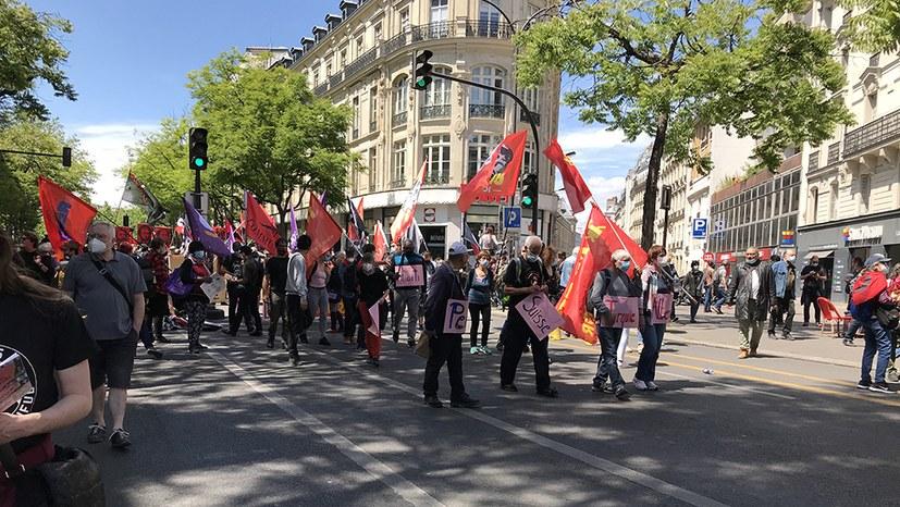 ICOR-Block bei der Demo