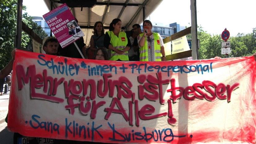 Streikende Kranklenschwestern