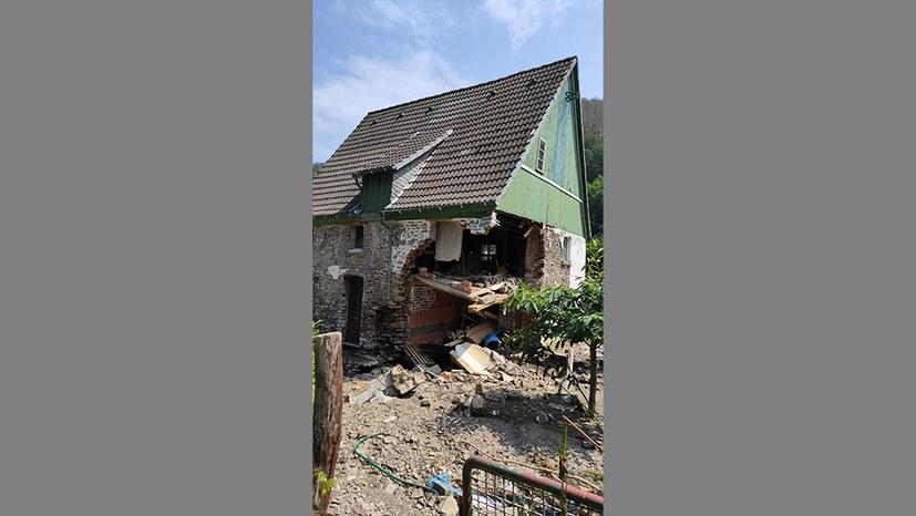 Zerstörtes Haus in Hagen