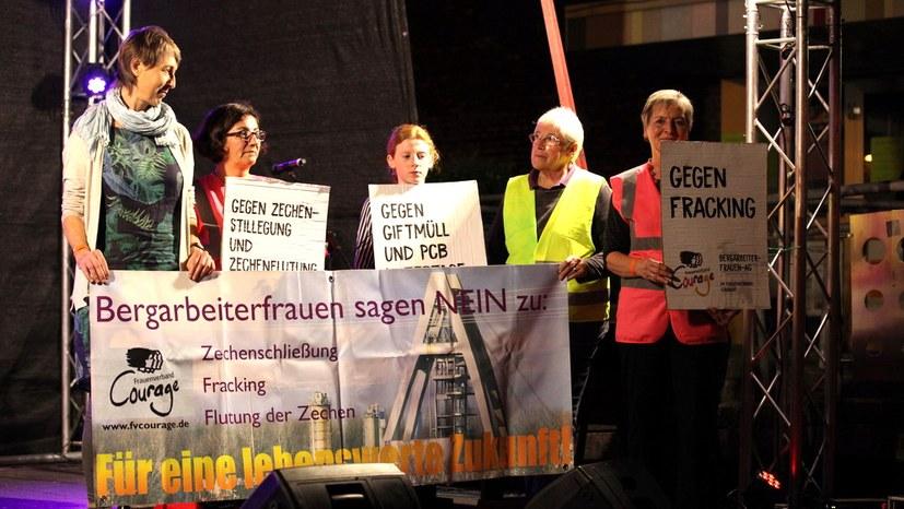 Die Bergarbeiterfrauen-AG im Frauenverband Courage