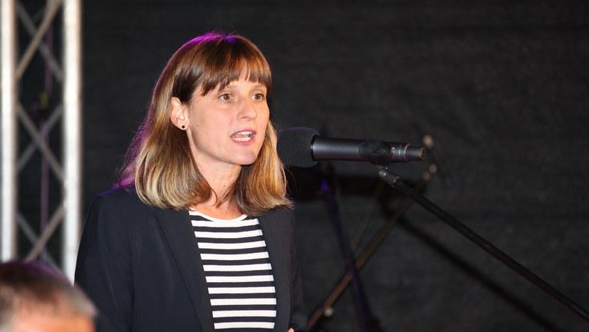 Gabi Fechtner sprach zur Rolle der MLPD