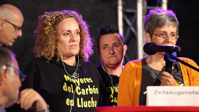 Internationale Gäste: Bergarbeiterinnen aus Spanien