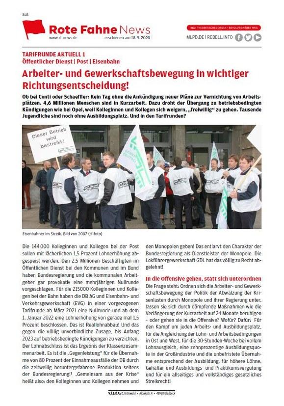 Tarifrunde Öffentlicher Dienst: Arbeiter- und Gewerkschaftsbewegung in wichtiger Richtungsentscheidung!
