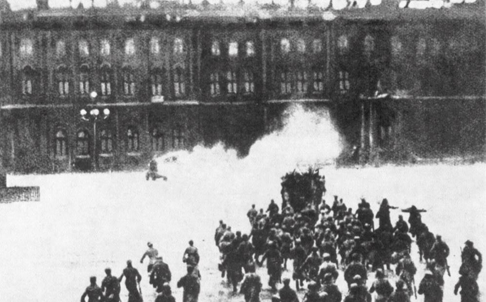 Sturm auf das Winterpalais in der Oktoberrevolution