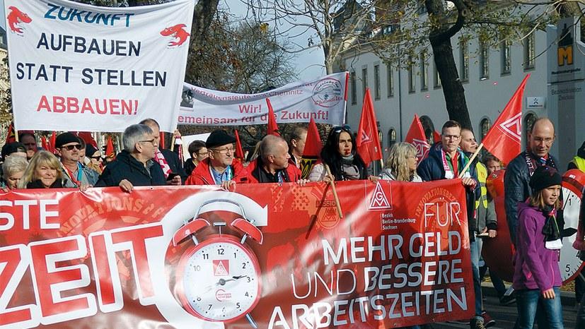 Tarifrunden: Kampfansage gegen Flexi-Zeit und Rechtsruck der Regierung!