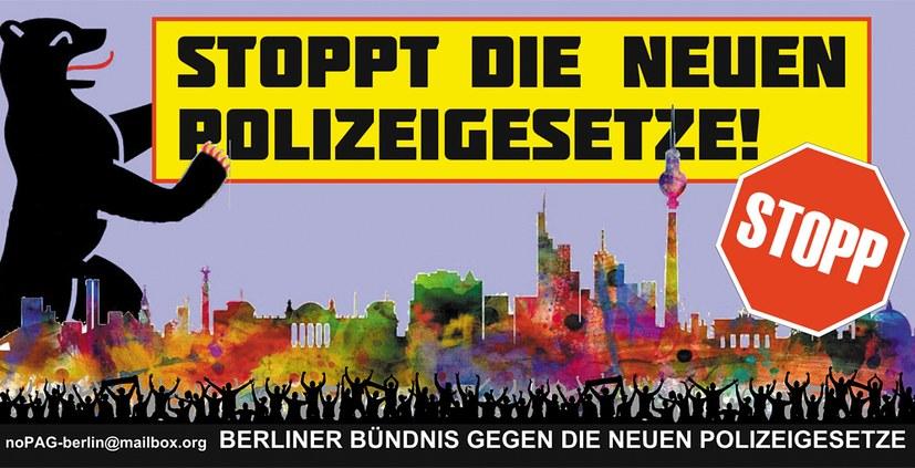 Widerstand gegen Polizeigesetze wächst – jetzt auch in Berlin und Brandenburg