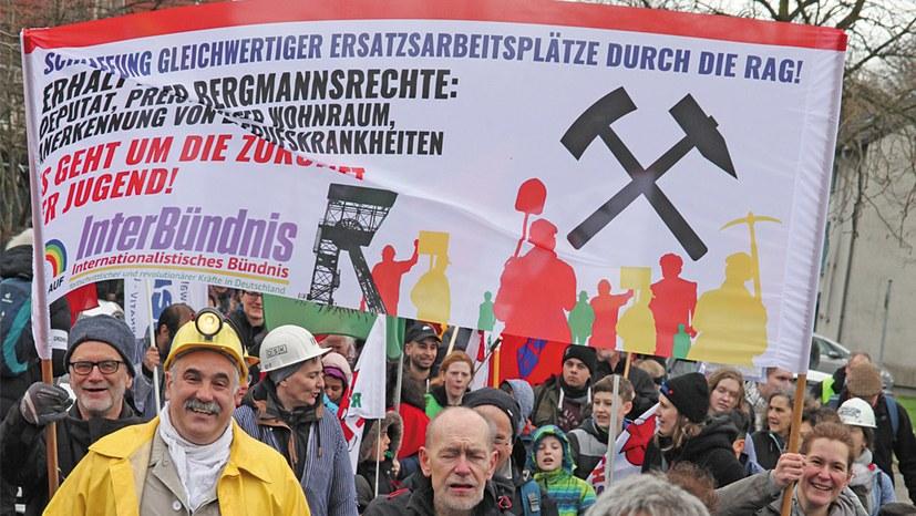 Massenentlassung im Bergbau – Demonstration am 15. Juni