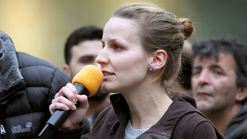 Kundgebung mit Lisa Gärtner