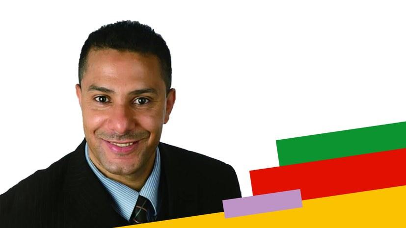 Kandidatenvorstellung auf arabisch: لمزيد من العدالة الاجتماعية لمزيد من