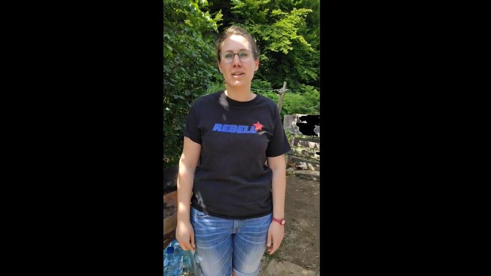 Katastrophenhilfe in Hagen: Statement vom Inessa vom REBELL