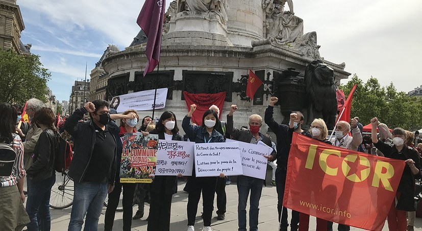 Kundgebung der ICOR zu Ehren der Pariser Kommune