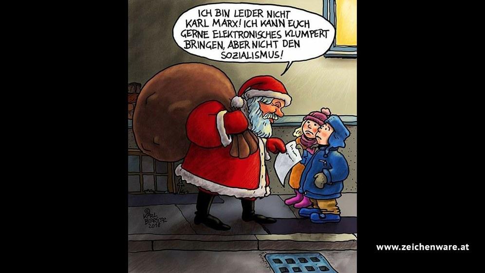 Sozialismus auf dem Wunschzettel - Quelle: www.zeichenware.at